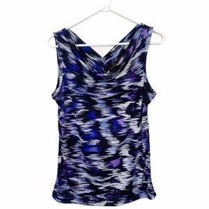 The Limited Blue Black Dressy Tank Top Size Medium